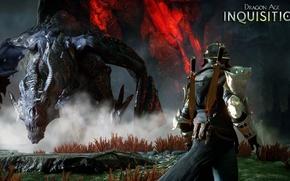 Picture magic, dragon, armor, dragon age, the Inquisitor, rpg, bioware, inquisition