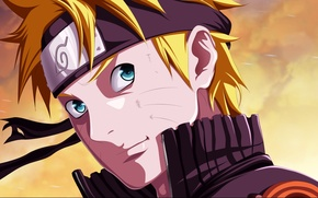 Picture look, guy, naruto, anime, art, blonde