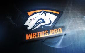 Wallpaper smoke, bear, logo, counter-strike, Virtus.pro, Virtus.about, Virtuspro