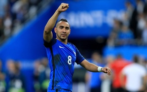 Picture France, player, France, leader, footballer, The European Championship, Euro 2016, Euro 2016, Dimitri Payet, Dimitri …