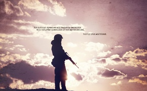 Wallpaper weapons, soldiers, background, photo, the sky, Wallpaper, the inscription