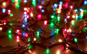 Picture winter, light, lights, lights, New Year, Christmas, garland, Christmas, colorful, holidays, New Year