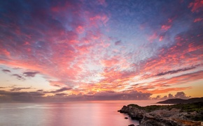 Picture beach, landscape, the ocean, rocks, dawn, shore