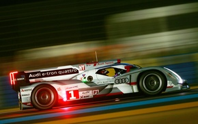 Picture Audi, Night, The Mans, Profile, R18, WEC