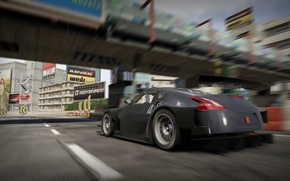 Picture bridge, the city, Auto, Nissan, 370Z
