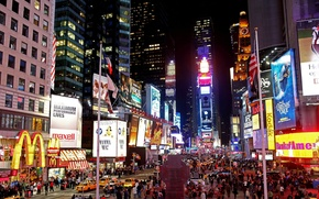 Picture night, New York, TIMES SQUARE AT NIGHT