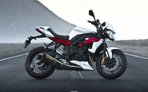 Picture motorcycle, Triumph, 2016, Speed Triple R