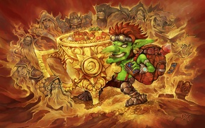 Picture gold, Warcraft, Blizzard, Goblin, hearthstone, Hearthstone: Heroes of Warcraft