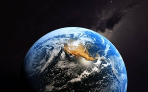 Wallpaper clouds, planet, Earth, continents