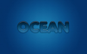 Picture letters, the ocean, minimalism, striped