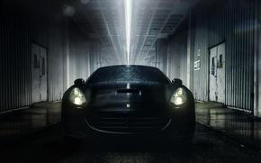 Picture drops, light, wet, Ferrari, California