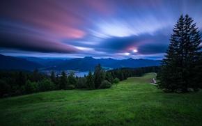 Picture sunset, mountains, lake, Germany, Bayern, Alps, Germany, Bavaria, Bavarian Alps, The Bavarian Alps, Tegernsee, Lake …