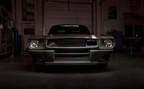 Wallpaper face, lights, Mustang, Ford, Mustang, Ford, 1965, Ringbrothers