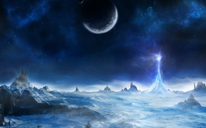 Wallpaper energy, planet, mountains, ice, surface