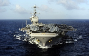 "Wallpaper sea, the carrier, USS, type ""Nimitz"", John C. Stennis, (CVN-74)"