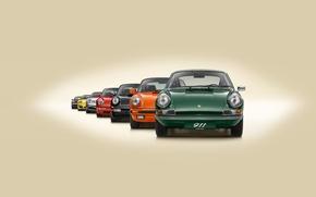 Picture background, 911, Porsche, Porsche, evolution, the front, lineup