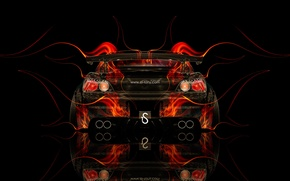 Picture Black, Fire, Style, Wallpaper, Background, Honda, Orange, Honda, Car, Fire, Photoshop, Photoshop, Abstract, Black, Style, …