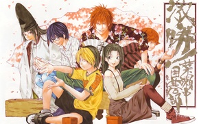 Picture sneakers, hat, fan, red, glasses, guys, art, players, takeshi obata, hikaru no go, fujiwara no ...