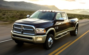 Picture The evening, Road, Machine, Speed, Car, 2012, Car, Speed, Wallpapers, New, Wallpaper, Dodge Ram 3500, …