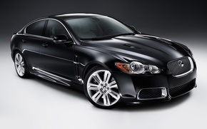 Picture black, Jaguar, car, sedan