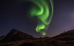 Picture mountains, Northern lights, mountain, aurora borealis, dancing aurora, dancing Aurora