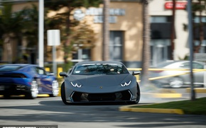 Wallpaper skid, Huracan, photographer, Speedhunters, drift, drift, Lamborghini, Larry Chen