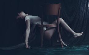 Picture girl, fantasy, art, chair, dollhouse, Maja Ienascu