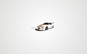 Picture white, vector, tuning, art, Supra, disk, spoler