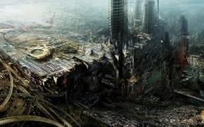 Picture future, building, art, Daniel Dociu, buildings, artwork, concept art, architecture, futuristic