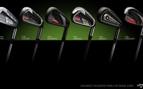 Picture metal, golf, golf clubs