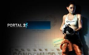 Picture Girl, Portal, The portal, Portal 2, The portal gun