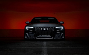 Picture background, Audi, lights, quattro, the front