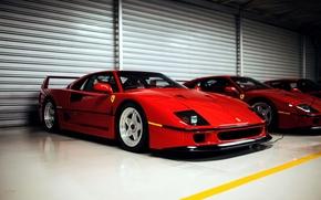 Picture Ferrari, supercar, red, F40, Ferrari, red, frontside