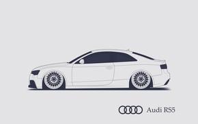 Picture Audi, RS5, Minimalistic, SrCky Design