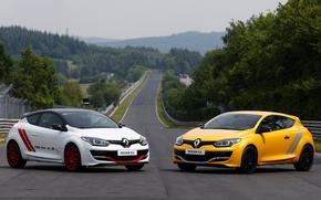 Picture Renault, 275, Mégane. R. S., white & yellow