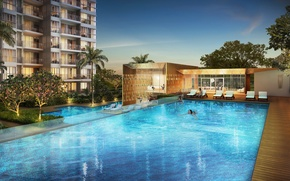 Picture house, pool, Club House, Is This, Singapure