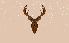 Picture deer, New Year, Christmas, Christmas, New Year, Xmas, deer, Merry, Designed by, Chiara Faes