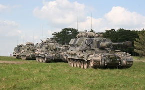 Picture field, forest, self-propelled, AS-90, howitzers