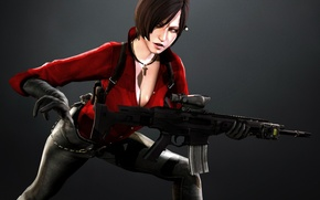Picture Resident Evil, carabiner, rifle, Ada Wong, ACW-R