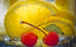 Picture macro, glass, drink