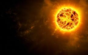 Picture fire, star, planet, supernova
