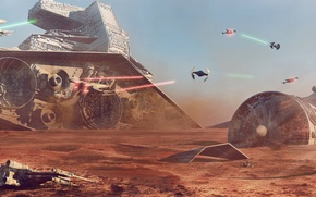 Picture planet, Star Wars, battle, Concept Art, Battle of Jakku