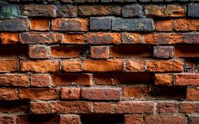 Wallpaper wall, bricks, brown