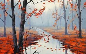 Wallpaper ART, FIGURE, ARTSAUS, CALM AUTUMN DAY