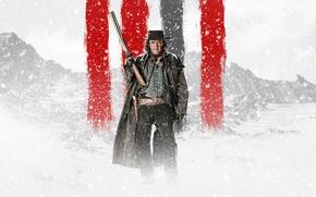 Picture Nature, Blizzard, Winter, Snow, Grey, Rifle, The, Guns, Mountains, Boy, Shooter, Hat, Shogun, Fog, Man, ...