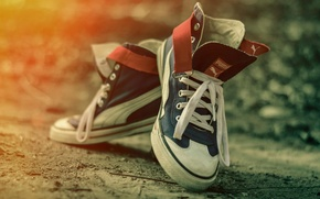 Picture shoes, sneakers, bokeh, P u m a