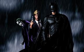 Picture batman, Joker, black, Batman, knight