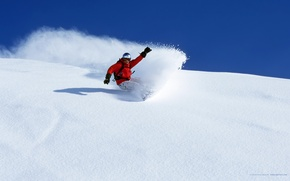 Wallpaper winter, snow, snowboard