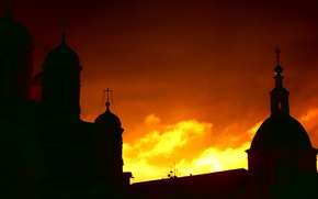 Picture the sky, Sunset, shadows, the monastery