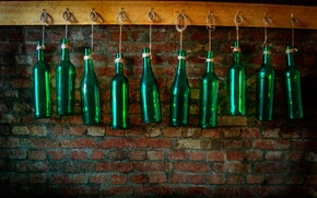 Picture wall, bottle, texture, bar